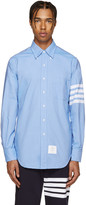 Thom Browne Blue Classic 4 Bar Shirt