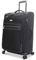 """Steve Madden CLOSEOUT! 65% OFF Patchwork 25"""" Expandable Spinner Suitcase"""