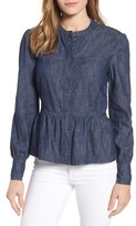 Lucky Brand Women's Romantic Denim Peplum Top