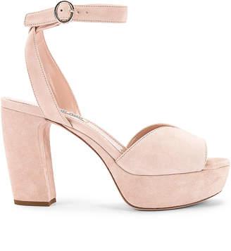 Miu Miu Platform Ankle Strap Sandals in Nude | FWRD