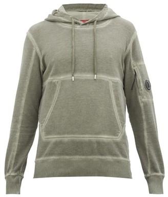 C.P. Company I.c.e Garment-dyed Cotton Hooded-sweatshirt - Mens - Dark Green