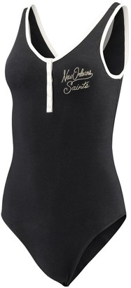 Junk Food Clothing Unbranded Women's Black New Orleans Saints Scoopback Tank Bodysuit