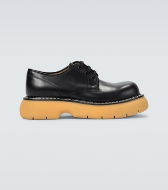 Bottega Veneta The Bounce leather platform shoes