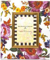 "Mackenzie Childs MacKenzie-Childs - Flower Market Enamel Frame - White - 5""x7"