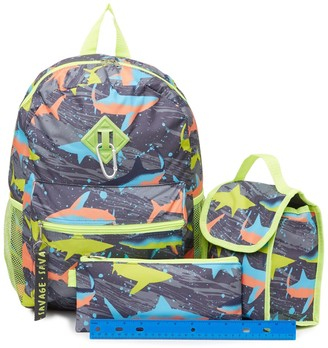 A D Sutton & Sons Shark Print Backpack, Lunch Bag, & Pencil Bag Set