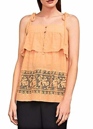 BCBGMAXAZRIA Women's Floral Embroidered Lace Tank Top
