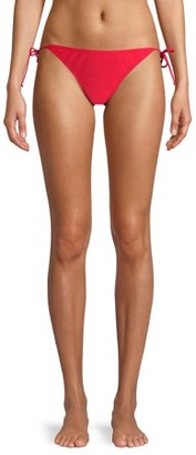 No Boundaries Juniors' Solid Side Tie Nobo Bikini Swimsuit Bottom