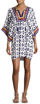 Tory Burch Beetle Bug Embroidered Coverup Tunic, White