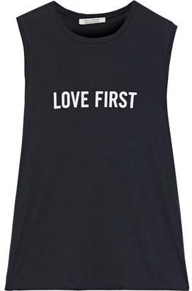 Nili Lotan Muscle Tee Printed Supima Cotton-jersey Tank