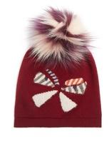 Fendi Butterflyeye fur-pompom wool beanie hat