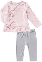 Angel Dear Girls' Unicorn Print Top & Star Print Pants Set