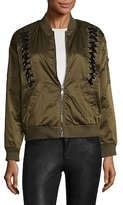Bagatelle Nylon Bomber Velvet Laced Jacket