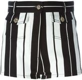 Roberto Cavalli striped shorts - women - Cotton/Spandex/Elastane - 40