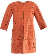 Drome Paisley laser-cut leather coat