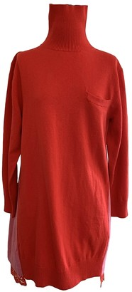 Sacai Red Wool Dresses