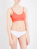 Free People Low Back stretch-jersey bralette