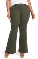 Melissa McCarthy Retro Pocket Flare Leg Corduroy Pants (Plus Size)