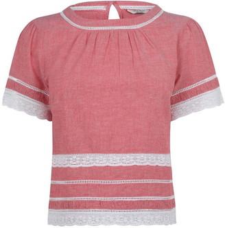 Jack Wills Richborough Lace Trim Festival Tee
