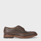 Paul Smith Men's Dark Tan Calf Leather 'Lucian' Brogues
