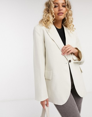And other stories & oversized blazer in off white