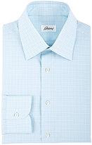 Brioni Men's Plaid Dress Shirt-LIGHT GREEN