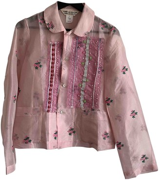 Comme des Garcons Pink Silk Top for Women
