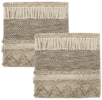 Gdfstudio Arbuton Hand-Loomed Boho Pillow Cover, Multicolor, Set of 2