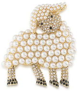 Carolee Pretty in Pearls Goldtone Faux Pearl Sheep Pin