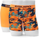 Men's equipo 2-pack Solid & Patterned Microfiber Boxer Briefs