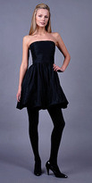Strapless Black Metallic Bubble Dresses by Shoshanna