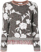 See by Chloe fringed floral jumper