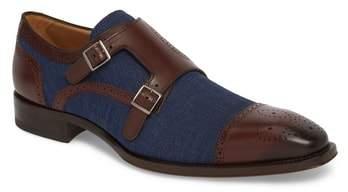 Mezlan Cupido Double Monk Strap Cap Toe Shoe