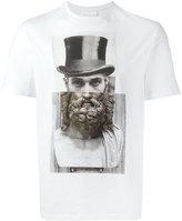 Neil Barrett top hat statue print T-shirt
