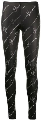 Versace crystal-embellished leggings