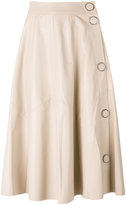Drome A-line leather skirt - women - Leather/Cupro - S