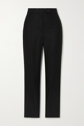 CASASOLA Net Sustain Milano Wool And Silk-blend Skinny Pants - Black