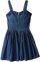Nanette Lepore Kids - Polka Dot Denim Dress w/ Tulle Girl's Dress