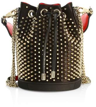 Christian Louboutin Marie Jane Spiked Leather Bucket Bag