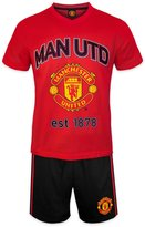 Manchester United F.C. Manchester United FC Official Soccer Gift Mens Loungewear Short Pajamas