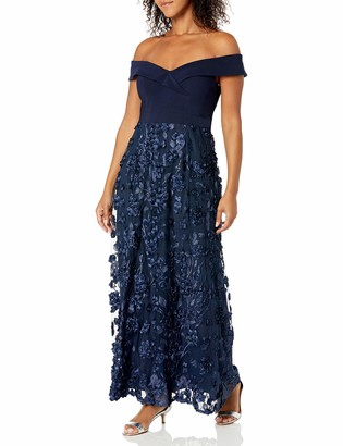 Alex Evenings Women's Lace Off The Shoulder Fit and Flare Dress