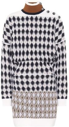Chloé Merino wool-blend mini sweater dress