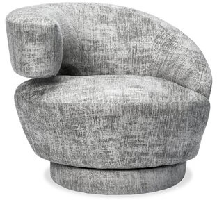 Interlude Arabella Left Swivel Lounge Chair Upholstery Color: Feather