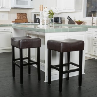 Christopher Knight Home Portman 30-inch Bonded Leather Backless Bar Stool