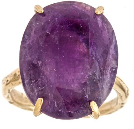 Raw Jewelry by JLRicci Oval Amethyst Cocktail Ring