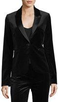 Diane von Furstenberg Single-Button Velvet Blazer
