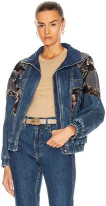 Stella McCartney Retro Stone Blue Jacket in Retro Blue | FWRD