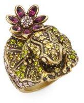 Heidi Daus Leap Frog Multicolored Rhinestones & Swarovski Crystal Ring