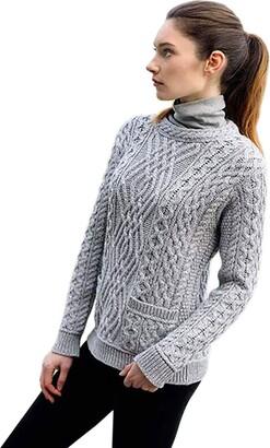 The Irish Store   Irish Gifts From Ireland The Irish Store - Irish Gifts from Ireland Women's Sweater Grey Medium