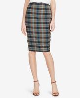 Polo Ralph Lauren Madras Cotton Pencil Skirt