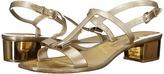 Salvatore Ferragamo PVC Glitter Thong With Heel Women's Sandals